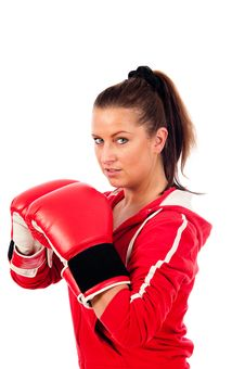 Free Young Woman Boxing Stock Image - 19676721