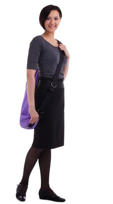 Free Yong Woman With Yoga Mat In Casual Business Suit Royalty Free Stock Image - 19677306