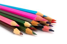 Free Color Pencils On White Royalty Free Stock Image - 19677986