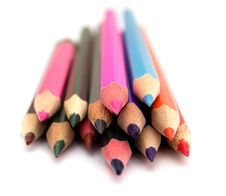 Free Color Pencils On White Royalty Free Stock Photo - 19678025
