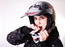Free The Girl The In A Helmet. Royalty Free Stock Photos - 19678378