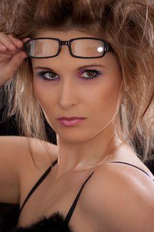 Free Young Sexy Woman With Glasses Royalty Free Stock Photography - 19678807