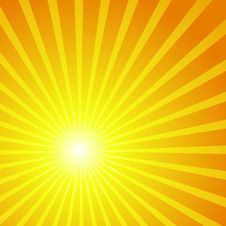 Free Vector Background In The Form Of The Sun Royalty Free Stock Images - 19679179
