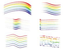 Rainbow Set Royalty Free Stock Image
