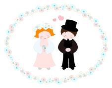 Free Wedding Couple Royalty Free Stock Photo - 19679625