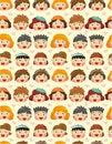 Free Seamless Child Face Pattern Stock Photo - 19684380