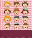 Free Cartoon Kid Card Royalty Free Stock Image - 19684386