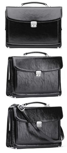 Free Black Leather Case Isolated Royalty Free Stock Images - 19680809