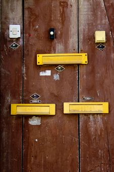 Free A Door With Doorbells And Mailslots In Lisbon Stock Photography - 19681132