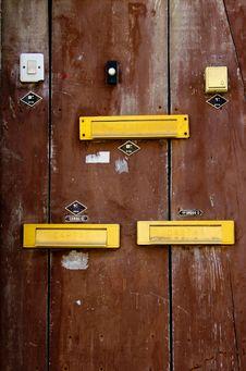 Free A Door With Doorbells And Mailslots In Lisbon Stock Photography - 19681132
