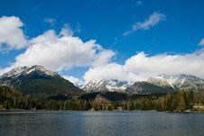 Lake - Strbske Pleso Royalty Free Stock Image