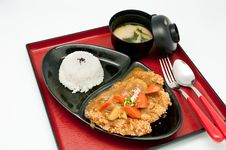 Free Curry Chicken Teriyaki Stock Photo - 19681430