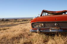 Free Rusting Car In Patagonia Stock Photo - 19682940
