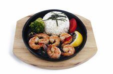 Shrimps With Vegetables Royalty Free Stock Photography