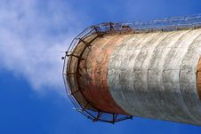Pipe At A Cement Plant. Russia. Royalty Free Stock Photography