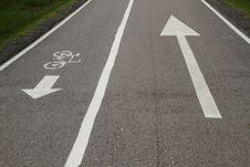 Free Bicycle Lane And Walkway Stock Photos - 19683843