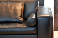 Free Leather Sofa Handle And Pillow Royalty Free Stock Image - 19684276