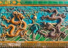 Free Nine-Dragon Screen In Beihai Park Royalty Free Stock Image - 19684456