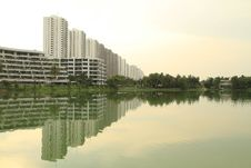 Free Reflection Of Row Of Buildings On The Water Stock Photos - 19684563