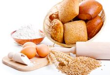 Free Ingredients For Homemade Bread Stock Image - 19684941