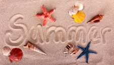 On Beach Royalty Free Stock Photography