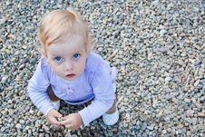 Free Baby Playing With Stones Royalty Free Stock Image - 19685266