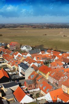 Free Areal View Over Ribe, Denmark Stock Image - 19685801