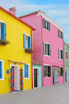 Free Burano Colorful Town In Italy Stock Image - 19686371