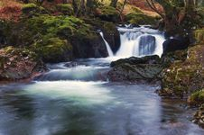 Free Dartmoor Waterfall Royalty Free Stock Photography - 19686887