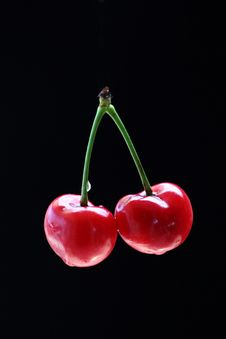 Free Red Cherry Stock Photo - 19687170