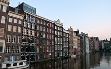 Free Amsterdam Canals And Typical Houses . Royalty Free Stock Photo - 19687715