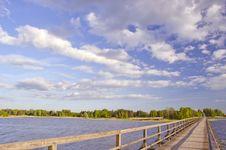 Free Wooden Bridge On Lake Stock Image - 19687791