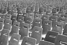 Free Multiple Chairs In Rows. St Peter S Square Stock Images - 19687804