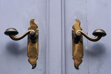 Free Two Door Handles Royalty Free Stock Image - 19688136