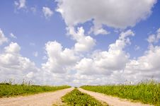 Free Countryside Road And Clouds Royalty Free Stock Photography - 19688787