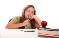 Girl Thinking Stock Images
