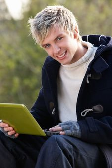 Free Young Man With Laptop Computer Stock Images - 19689274