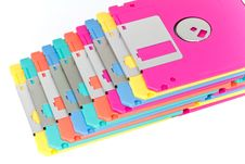 Free Colorful Diskette Isolation Stock Photography - 19689382