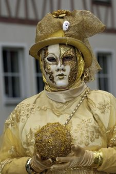 Free Venetian Carnival Mask Royalty Free Stock Image - 19689596