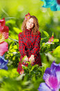 Free Beauty Woman In A Green Grass Stock Images - 19691284