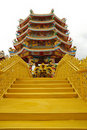 Free Golden Road To Pagoda Royalty Free Stock Photo - 19692645
