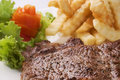 Free Steak, Salad And French Fries Stock Photography - 19693442