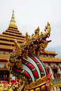 Free Naga Statue At Thai Temple Royalty Free Stock Image - 19699006