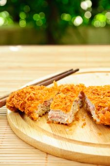 Free Japanese Deep Fried Pork Stock Images - 19690344