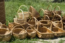 Free Handmade Baskets Stock Photography - 19690352