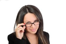 Business Women In Glasses Stock Photography