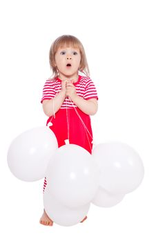 Free Little Girl With Balloons Royalty Free Stock Photo - 19690725