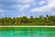 Free Tropical Beach At Maldives Stock Photography - 19691102