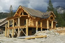 Free Log Home Royalty Free Stock Photography - 19691147