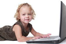 Free Girl With Laptop Stock Photos - 19691523